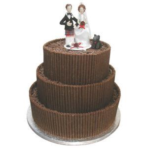 Chocolate Tower Wedding Cake