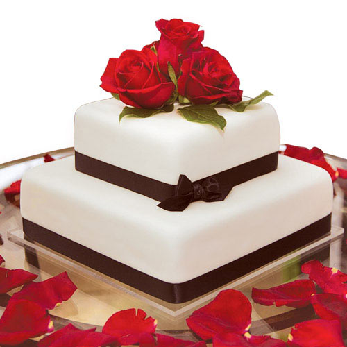 Rose Gift Cake
